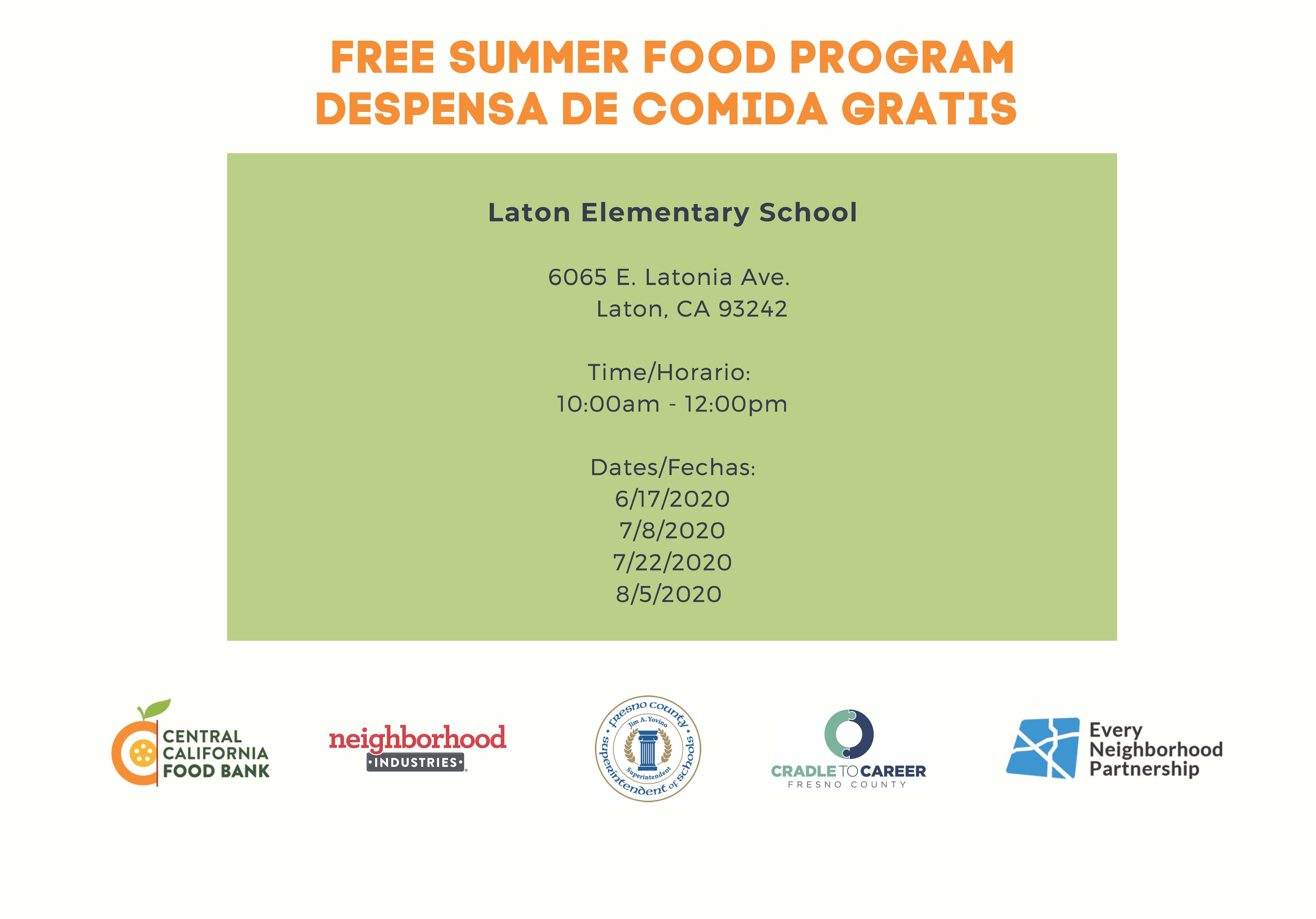 Free Summer Food Program